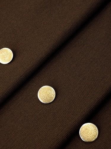 Пуговица металл пластик золотистая с серебристой каймой (p0252) к1 - Фото 9