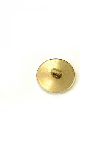Пуговица металл пластик золотистая с серебристой каймой (p0252) к1 - Фото 7