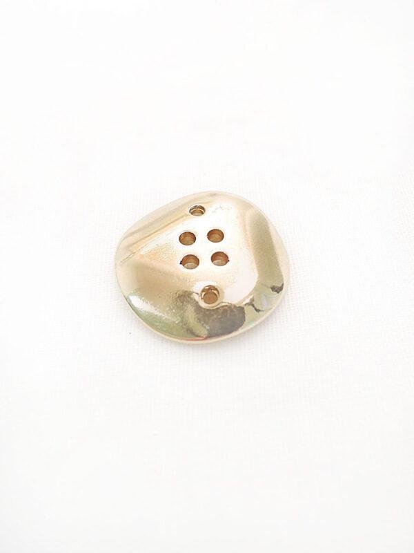 Пуговица металл на шесть проколов цвет золото изогнутая (p0253) к16в - Фото 7