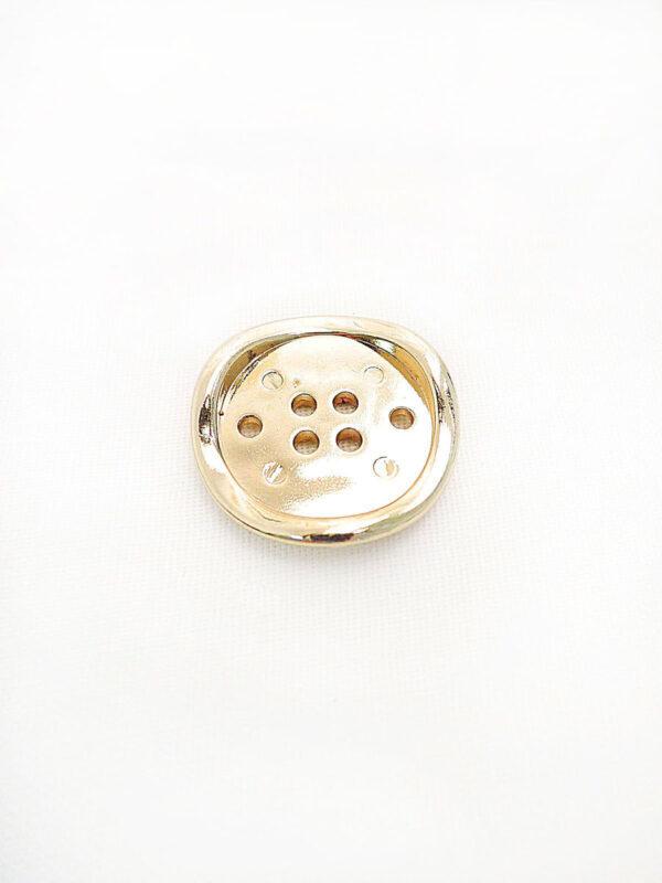 Пуговица металл на шесть проколов цвет золото изогнутая (p0253) к16в - Фото 6