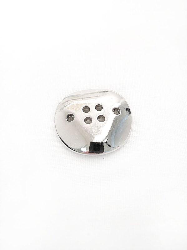 Пуговица металл на шесть проколов цвет серебро изогнутая (p0254) к16в - Фото 7