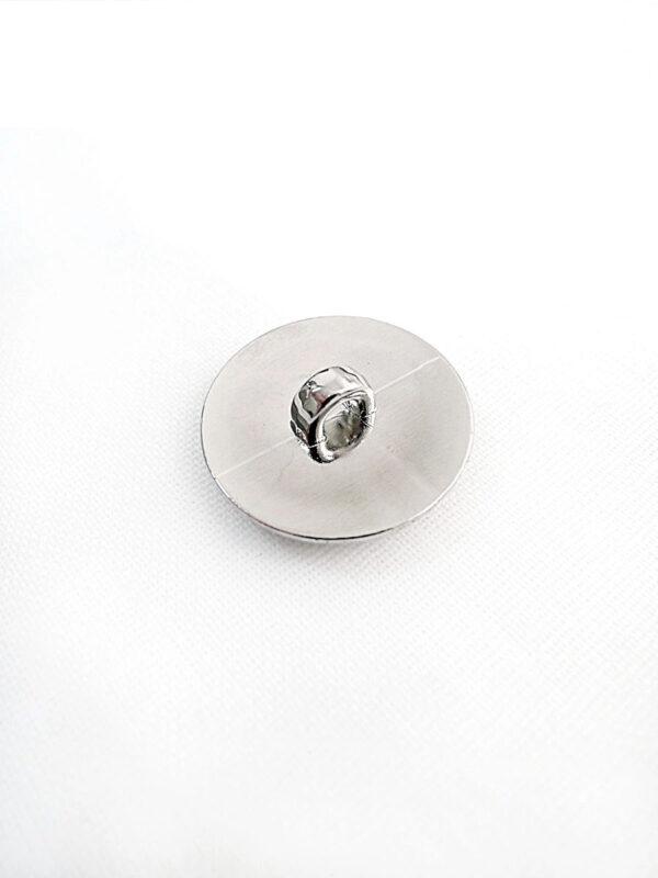 Пуговица пластик серебро узор завитки листочки (p0257) к14н - Фото 7