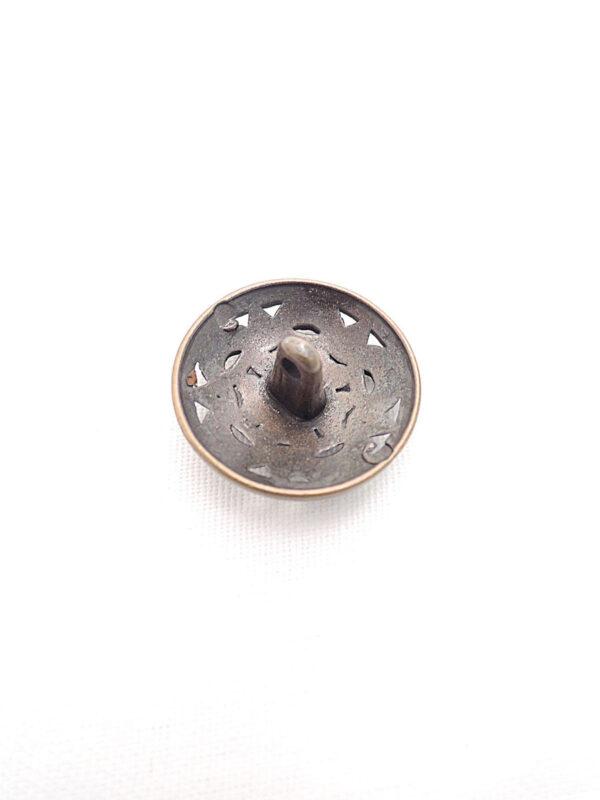 Пуговица ажурная металл бронза цветок (p0260) к1 - Фото 7