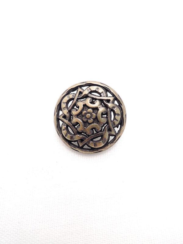 Пуговица ажурная металл бронза цветок (p0260) к1 - Фото 6