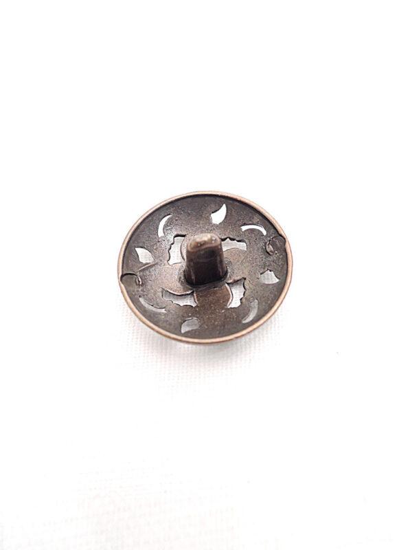 Пуговица металл бронза цветок четыре лепестка (p0261) к1 - Фото 7