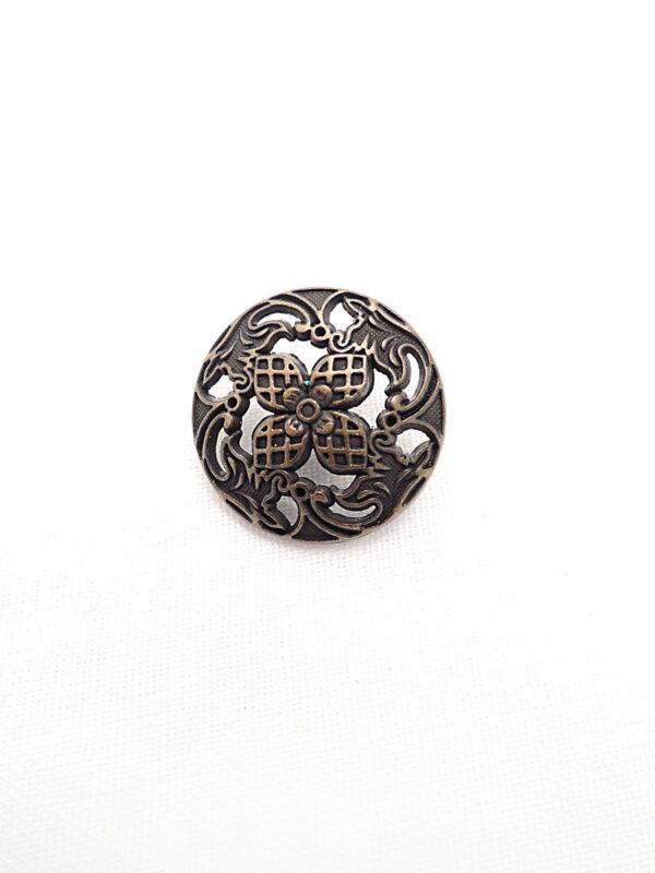 Пуговица металл бронза цветок четыре лепестка (p0261) к1 - Фото 6