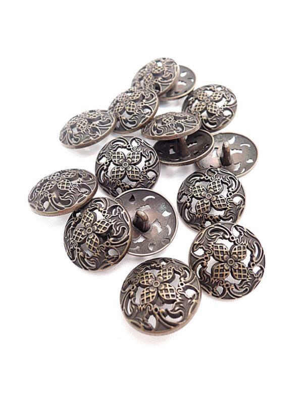 Пуговица металл бронза цветок четыре лепестка (p0261) к1 - Фото 8