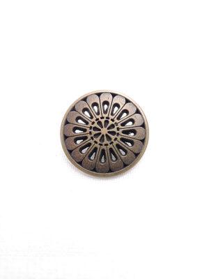 Пуговица металл бронза цветок лепестки (p0262) к1 - Фото 8