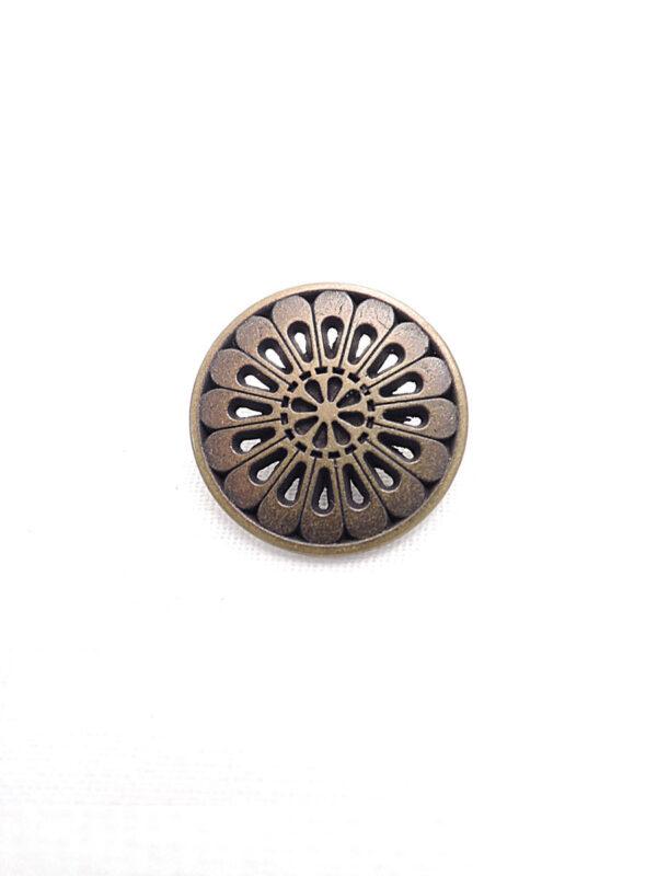 Пуговица металл бронза цветок лепестки (p0262) к1 - Фото 6
