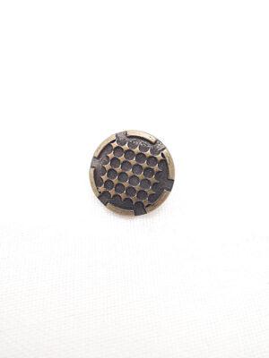 Пуговица металл бронза мелкие ромбики (p0266) к14н - Фото 16