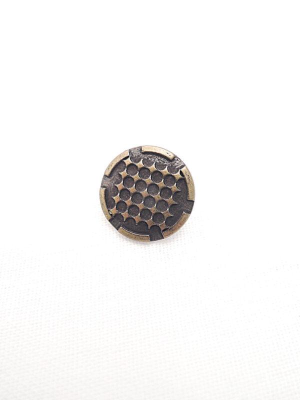 Пуговица металл бронза мелкие ромбики (p0266) к14н - Фото 6