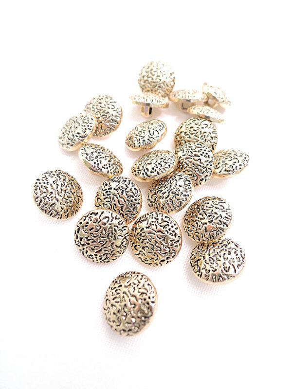 Пуговица пластик золото маленькая щербатая (p0269) к2 - Фото 8
