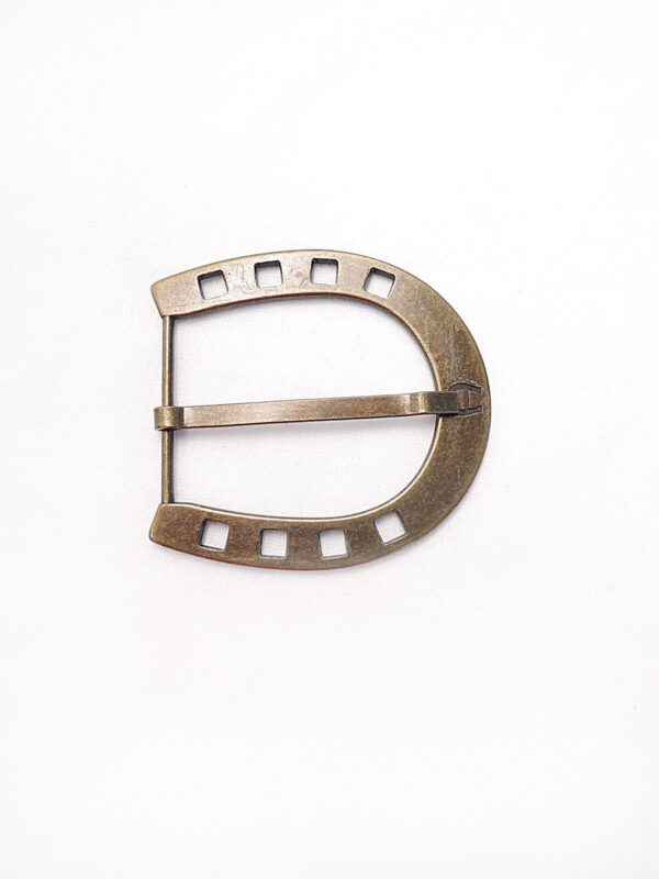 Пряжка металл бронза большая в виде подковы (p0275) - Фото 6