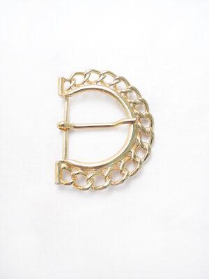 Пряжка металл золото крупная цепь (p0276) - Фото 11