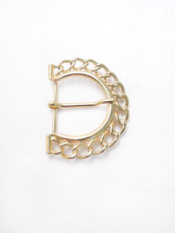 Пряжка металл золото крупная цепь (p0276) - Фото 6