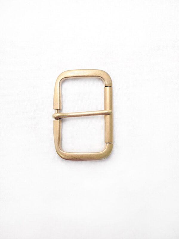 Пряжка металл прямоугольная матовое золото (p0280) - Фото 6