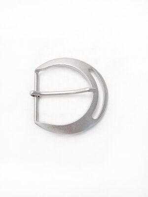 Пряжка металл сталь матовая крупная полукруглая (p0286) - Фото 9