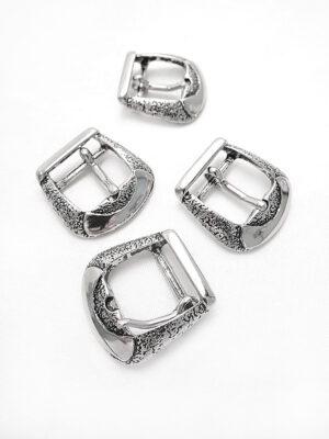 Пряжка металл серебро рытвины (p0289) - Фото 18