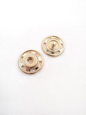 Кнопки пришивные большие круглые плоские металл золото (p0299) - Фото 12