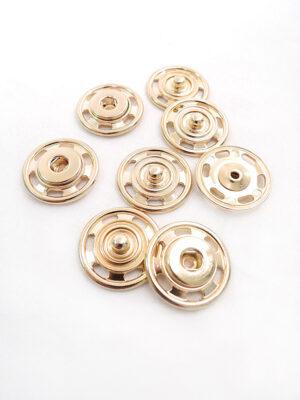 Кнопки пришивные большие круглые плоские металл золото (p0299) - Фото 13