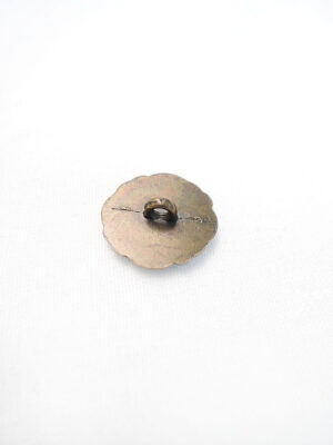 Пуговица металл на ножке бронза лакированная сверху имитация янтаря (p0368) - Фото 15