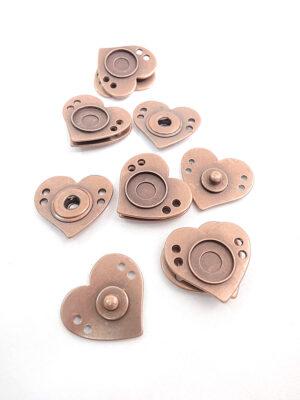 Кнопки пришивные металл медь сердце (p0328) - Фото 13