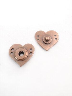 Кнопки пришивные металл медь сердце (p0328) - Фото 12
