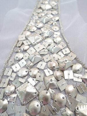 Аппликация воротник с металлическими пайетками (t0332) К- броши и декоры2 - Фото 15