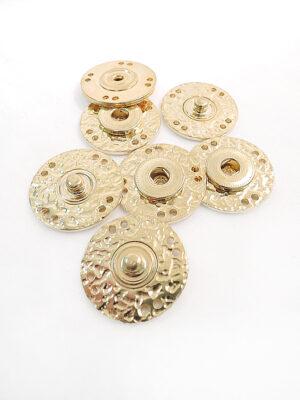 Кнопки пришивные круглые плоские большие металл золото (p0334) - Фото 23