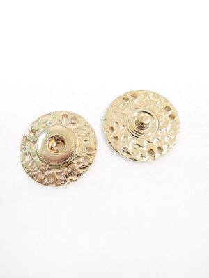 Кнопки пришивные круглые плоские большие металл золото (p0334) - Фото 22