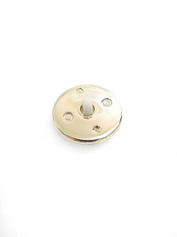 Пуговица пластик круглая на ножке жемчужина в золотом обрамлении (p0336) - Фото 7