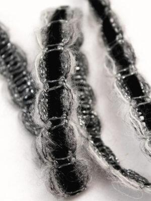 Тесьма шерстяная с черной велюровой вставкой (t0340) К-8 - Фото 15