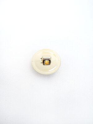 Пуговица пластик круглая на ножке коричневый камень в золотой оправе (p0358) - Фото 9