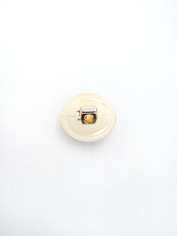 Пуговица пластик круглая на ножке коричневый камень в золотой оправе (p0358) - Фото 7