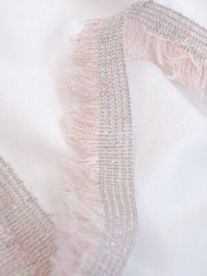 Тесьма розовая с бахромой и люрексом (t0368) к-8 - Фото 13