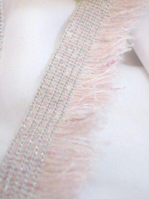 Тесьма розовая с бахромой и люрексом (t0368) к-8 - Фото 14