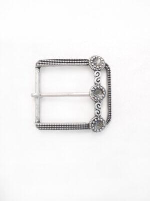 Пряжка металл серебро круги блестки (p0380) - Фото 7
