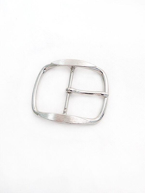 Пряжка металл серебро крупная (p0381) - Фото 6