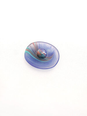 Пуговица пластик овал на ножке синяя с разводами (p0393) - Фото 17