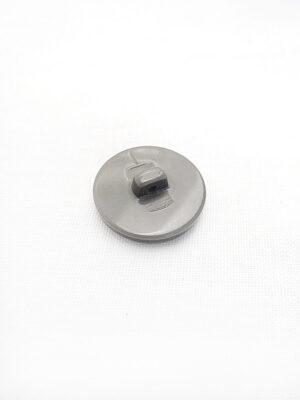 Пуговица пластик на ножке серый перламутр с разводами золотой узор в центре (p0400) - Фото 15