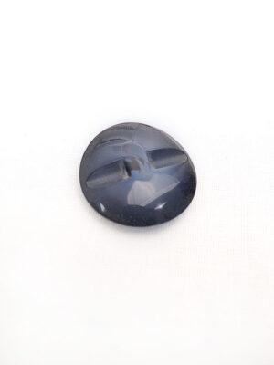 Пуговица пластик темно-синий с ушком имитация камня (p0404) - Фото 15