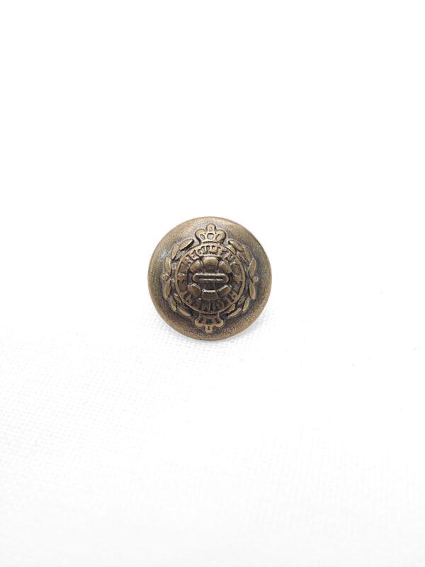 Пуговица металл круглая на ножке герб бронза (p0411) - Фото 6