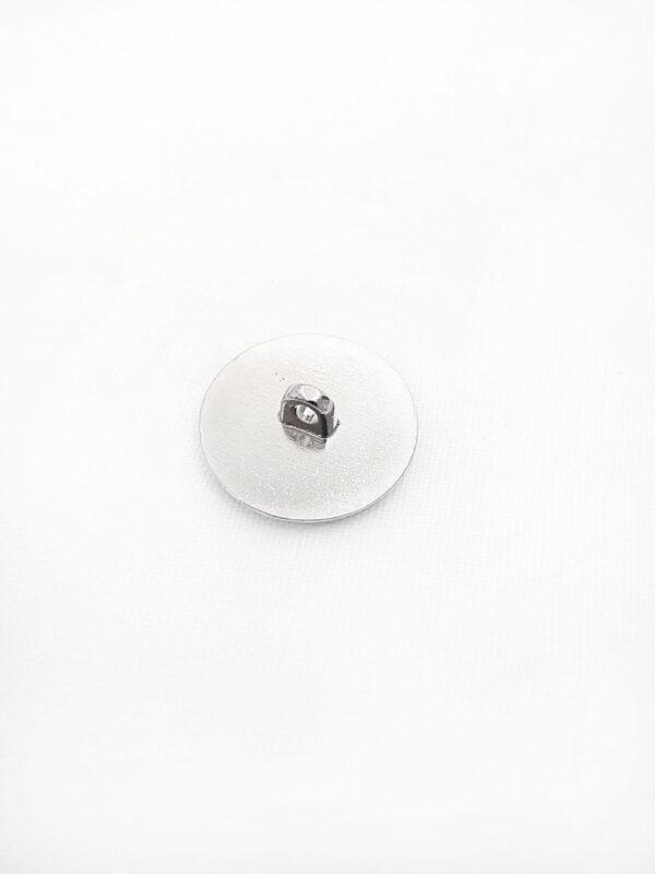 Пуговица металл эмаль круглая плоская на ножке с рисунком темно-синий якорь (p0417) - Фото 7