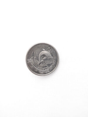 Пуговица пластик на ножке имитация металла цвет темное серебро якорь дельфин (p0421) - Фото 18