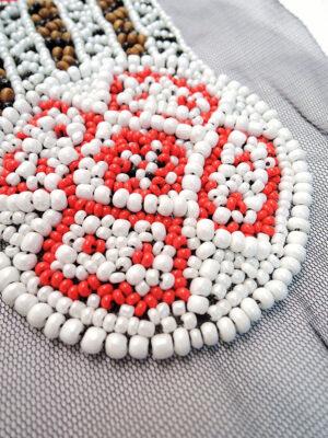 Аппликация пришивная этническая с бисером (t0425) - Фото 11