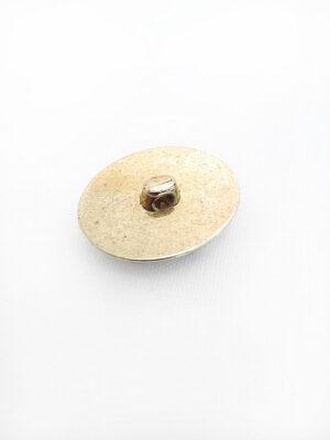 Пуговица пластик имитация под металл крупная золото на ножке овальная с полосками (p0425) - Фото 10