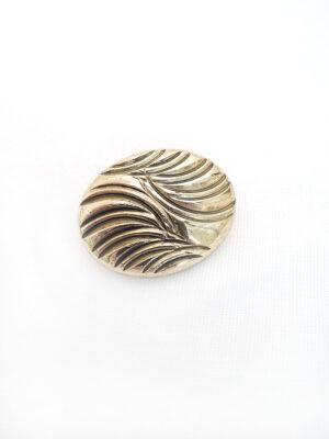 Пуговица пластик имитация под металл крупная золото на ножке овальная с полосками (p0425) - Фото 9