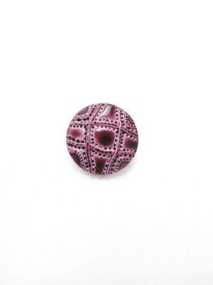 Пуговица пластик круглая на ножке цвет вишня узор мозаика (p0451) - Фото 13