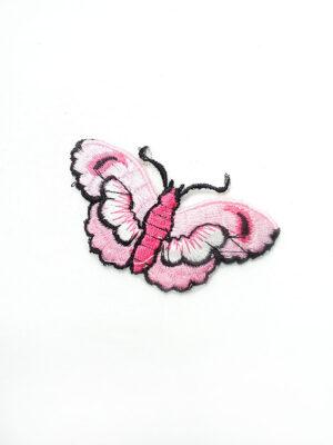 Аппликация с вышивкой розовая бабочка (t0452) А-2 - Фото 21