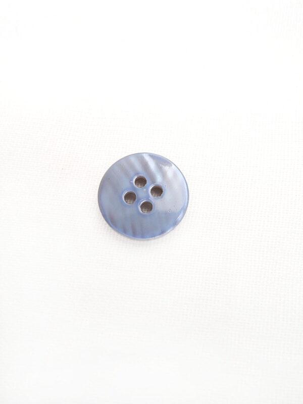 Пуговица пластик рубашечная сиреневая с надписями (р0455) - Фото 7
